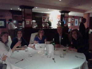 En la cena para los Despachos organizadores de cada país: de derecha a izquierda: Italia, Alemania, Bélgica, Holanda y España (Tulp Abogados).