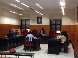 La bogada de Tulp Abogados, Silvia Recuenco, en la simulacion de juicio sobre derecho internacional privado en la UC3M